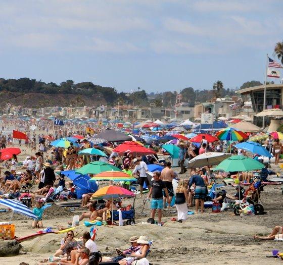Fourth of July on Del Mar Beach