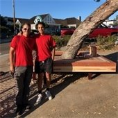 new redwood bench