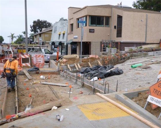 11th Street crosswalk construction