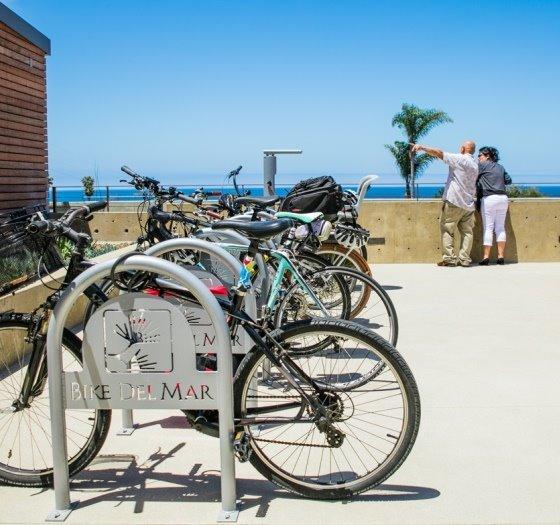 bike rack at civic center