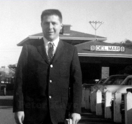 Commuter at Del Mar train station