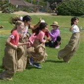 sack race at powerhouse park