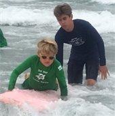 junior lifeguards surfing