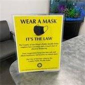 wear a mask flier on display