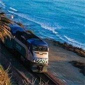 train on bluff