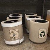 trash barrels