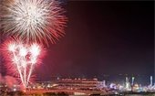 Fireworks display at Del Mar Fairgrounds