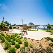 Del Mar Civic Center courtyard