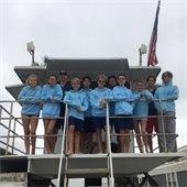 junior lifeguards on tower