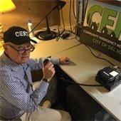 CERT volunteer operates radio