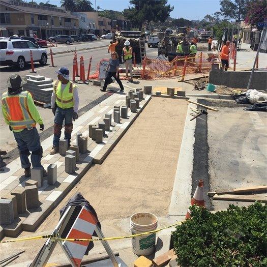 12th Street crosswalk construction