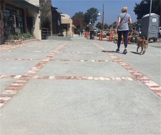 new 1100 block sidewalk