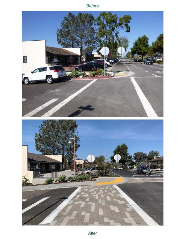 Photo of Camino del Mar Before and After Streetscape