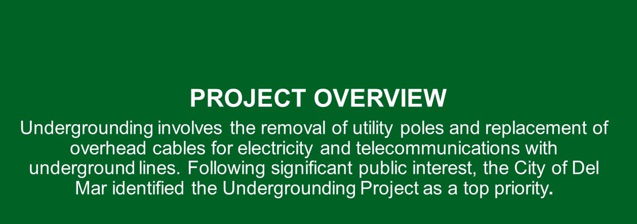 Read background information on the Utility Undergrounding Project