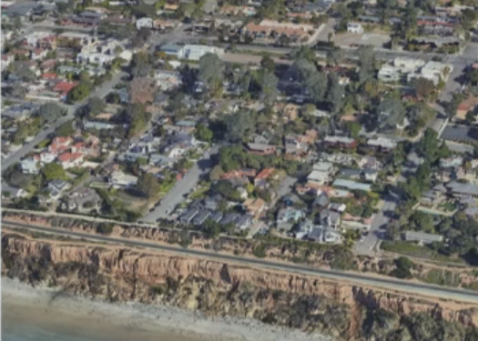 aerial view of houses in Del Mar