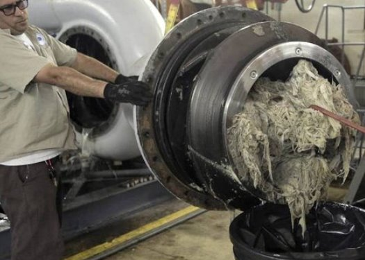 wipes clogging equipment