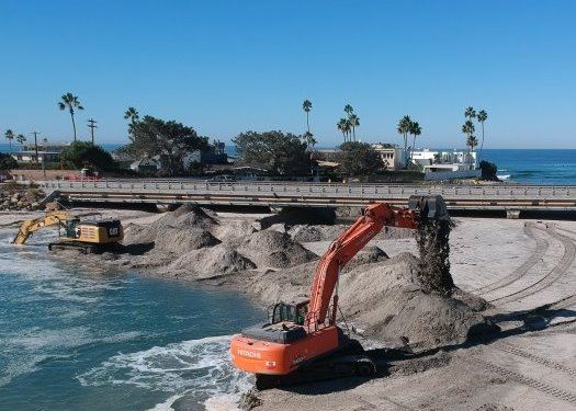 Dredging at San Dieguito River mouth