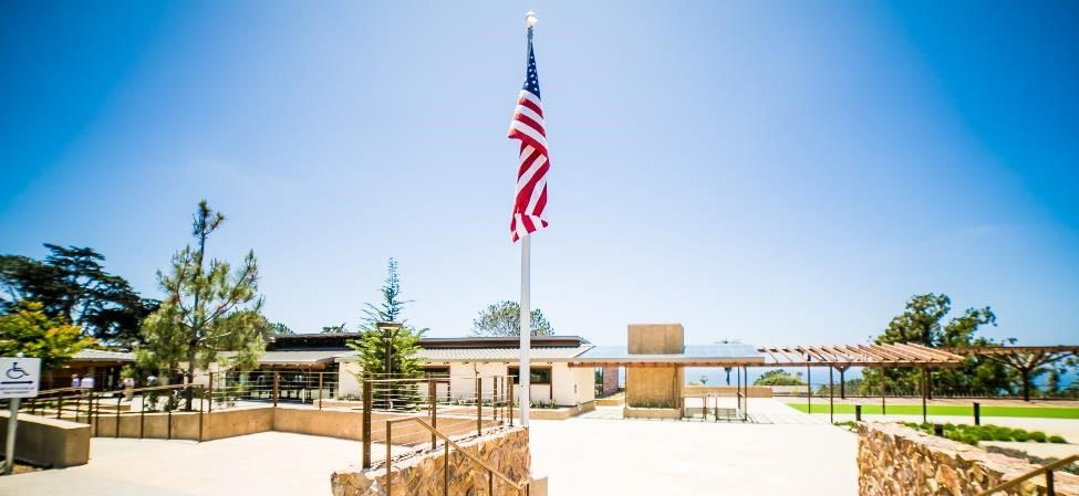 Photo of Del Mar Civic Center Flag and Plaza area