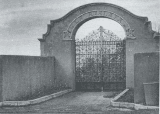 Historic photo of La Atalaya entrance