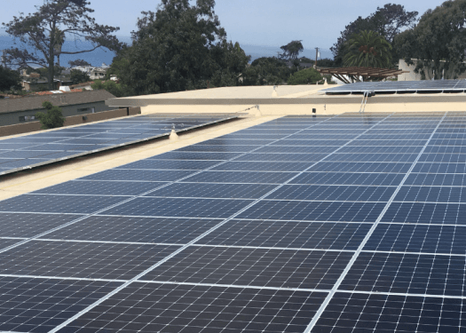 rooftop solar at Del Mar Civic Center