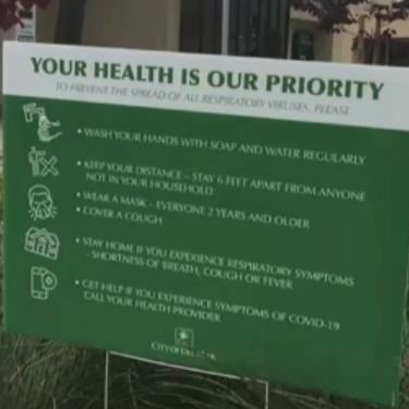 Health is priority Sign