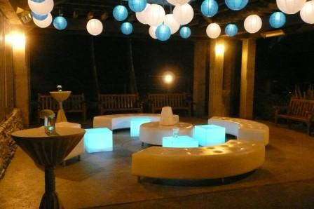 Night Lounge with Balloons